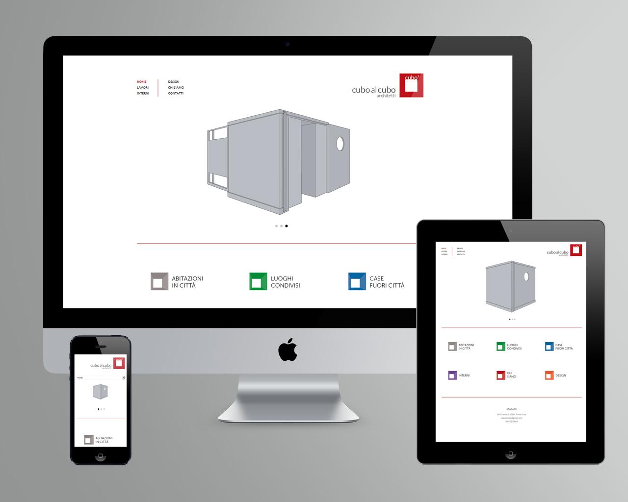 Sito web per cuboalcubo architetti for Sito per architetti